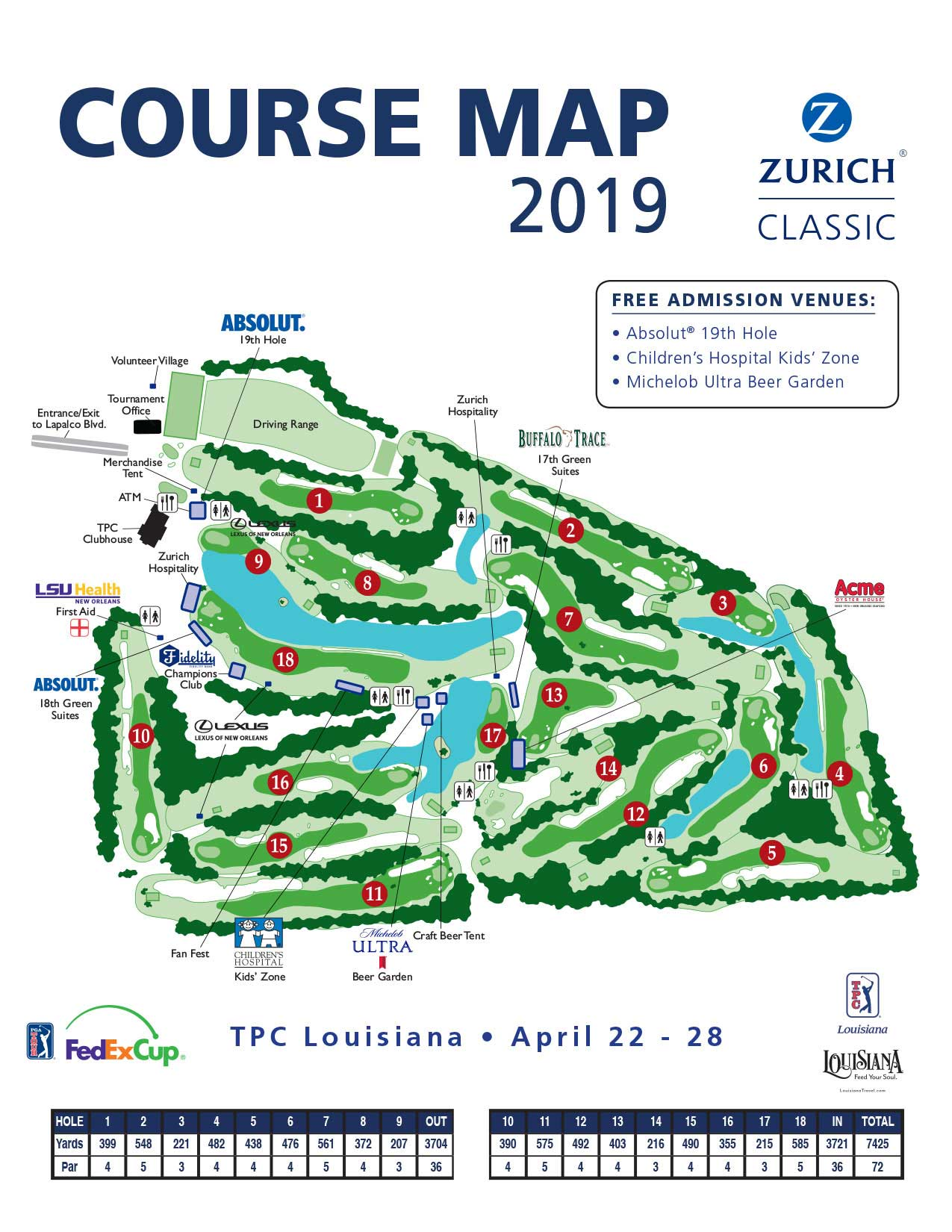 Course Activities Map – Zurich Clic of New Orleans on
