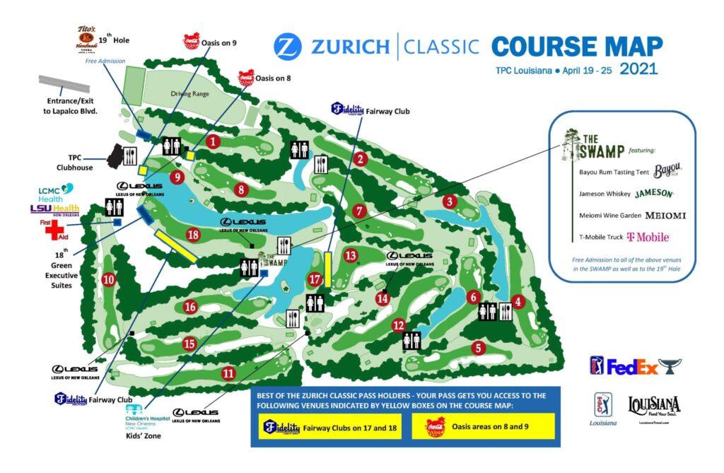 Zurich Classic Golf Course Map